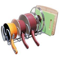 Kitchen Cabinet Pantry Storage Organiser Rack Stand Pan Pot Lid Cutting Board