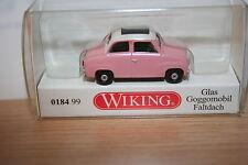 Wiking 018499, Glas Goggomobil mit Faltdach, altrosa, pink, neu, OVP