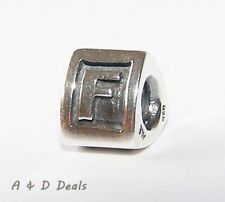 "Pandora Genuine Sterling Silver Alphabet ""F"" Charm #790323F - RETIRED"