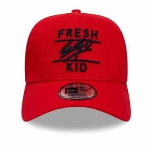 Fresh Ego Kid New Era Mesh Trucker Cap - Red/Black