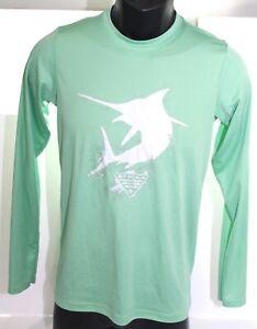 Columbia PFG Fishing Gear Green Polyester LongSleeve T Shirt Youth Large 14/16