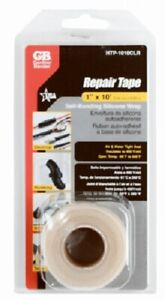 "ECM 1"" x 10', Clear, Self Bonding Silicone Repair Tape"