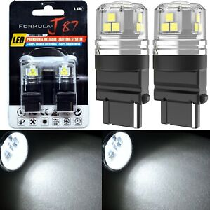 LED 15W 3155 White 5000K Two Bulbs Light Rear Turn Signal Replacement Upgrade OE