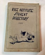 1950 RICE INSTITUTE University Student Directory vintage antique OWLS HOUSTON