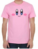 Nintendo Kirby HAPPY FACE Pink T-Shirt NWT Licensed & Official XS-3XL