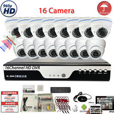 16 Channel DVR 16 Pcs  HD Camera Home CCTV Security Camera System Set 2TB HDD