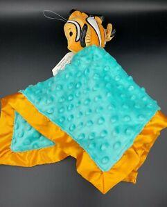 NWT Hallmark Itty Bittys Finding Nemo Security Blanket Disney Minky Dot Lovey
