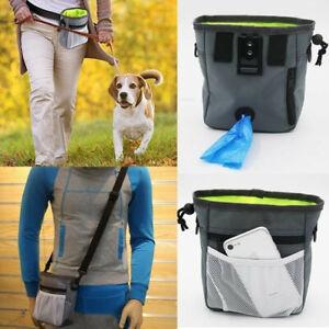 Pet Dog Walk Treat Training Pouch Lightweight Portable Pet Puppy Snack Bag UK
