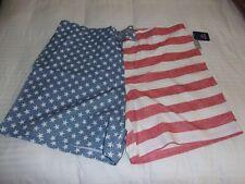 New listing Men's Big & Tall American Flag Board Swim Trunks Sz 3Xl(48-50)