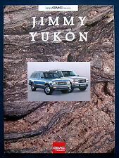 Prospekt brochure 1993 GMC Jimmy * Yukon (USA)