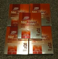 5 x Boots NicAssist 25mg Nicotine patch 7 Patches 7 Days Step 1 NEW EXP 01/2023
