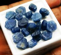 55 CT NATURAL BLUE SAPPHIRE ROUGH RAW LOOSE GEMSTONE LOT. Gg2