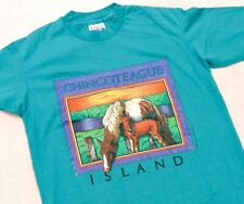 Vintage 1990 Chincoteague Island Horse Shirt Hanes Fifty-Fifty Single Stitched M