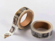 Ruban Masking Tape Timbres Monuments 15mmx10m MOD11 adhésif Scrapbooking Loisirs