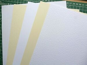 A4 textured Card / Linen / Hammer / Smooth / Ivory / White 300gsm High QUALITY