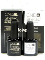 CND Shellac UV Gel Nail Polish Soak Off Base Coat or Top Coat/ Choose Any Size