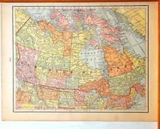Beautiful Original 1899 Dominion of Canada Large Color Map/10x14
