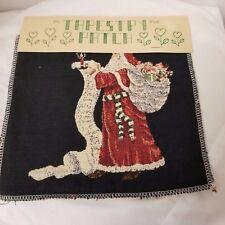 "Tapestry Patch Ideas Panel Santas List  9"" x 9"" RN 56181 Brand New"