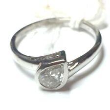 Pear Very Good Cut Natural White Gold Fine Diamond Rings