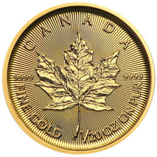 2019 $1 Gold Canadian Maple Leaf .9999 1/20 oz Brilliant Uncirculated