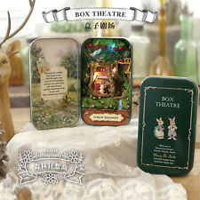 3D Doll House Box Theatre DIY Dollhouse Miniature Furniture Kit Retro Tin Box