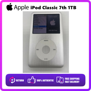 🔥NEW Apple iPod Classic 7th Generation Silver 1TB SEALED -- Best Xmas Gift🔥