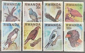 Rwanda. Birds of Prey Stamp Set. SG833/40. 1977. MINT. (X83)