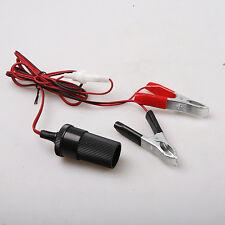 12V Female Car Battery Terminal Cigar Lighter Socket Plug Connector Adapter+Fuse