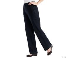 "Denim & Co.""How Fitting!"" Tummy Slimming Trouser Jeans Size 4 Petite Dark Indigo"
