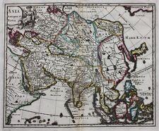 "ORIGINALE ANTICO MAPPA Asia, CINA, GIAPPONE 'ASIA Antiqua et Nova ""P. Cluver, c.1697"