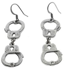 Hand Cuffs Handcuff Metal Earrings Ear Ring D217