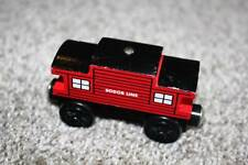 Thomas the Train & Friends Wooden Railway Sodor Line Caboose Red Black Wood 2003