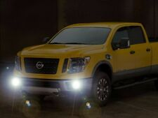 Bumper Fog Lamps Driving Lights Kit w/ Built-In DRLs for 2016 2017 Nissan Titan