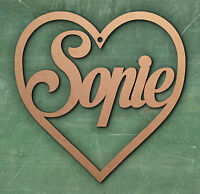 Heart  Valentine's Day Birthday Gift Tag Disney Font Christmas Tree Bauble MDF