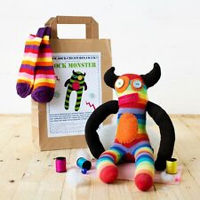 SOCK MONSTER CRAFT KIT. (Creature, sewing, kids, adult, monkey) Christmas gift!