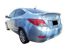 UNPAINTED REAR WING SPOILER FOR A HYUNDAI ACCENT FLUSH MOUNT 2012-2016