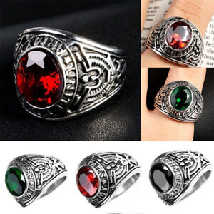 Luxury Men Stainless Steel 316L Ring United States US Army Military Ring Gifts