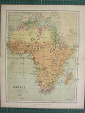 1869 ANTICA MAPPA ~ Africa ~ Soudan Marocco Algeria Egitto CAPE Colony