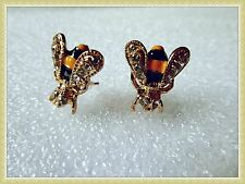 Adorable Little Bee/Wasp Earrings,Buzz,Unusual,Studs,Fashion,Christmas Gift Idea