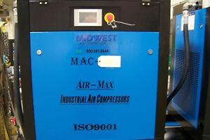 Air-Max 10 hp. 1 ph. VSD Rotary Screw air Compressor 12 Year AIR-MAX Warranty