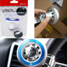 Blue Car Quick Steer Wheel Ball Suicide Knob Power Spinner ABS+Stainless Steel