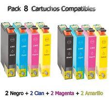 8x tinta cartuchos Non Oem Epson Stylus sx125 sx130 sx230 sx235w sx430 sx445