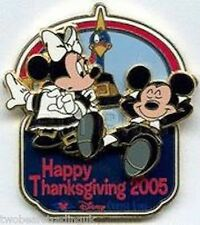 Disney Pin: Disney Cruise Line - Thanksgiving 2005: Mickey & Minnie Mouse LE