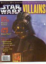 Star Wars Villains 1997 Official 20th Anniversary Poster Magazine! Boba Fett Dar