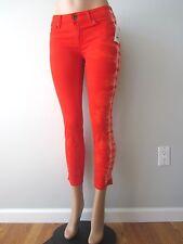Rich & Skinny Jeans Tie Dye Print Coronado Crop Skinny Indio Orange 29 NWT