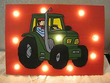 Chambre enfant Lampe murale éclairage tracteur Bauer ferme Lumber Light Children