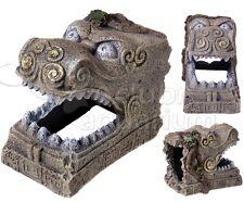 Ancient Lost Civilization Serpent Head Tomb Aquarium Fish Cave/Tunnel Ornament