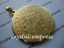 FENG SHUI - PRECIOUS WIND HORSE & POPULARITY PENDANT (GOLD STAINLESS STEEL)