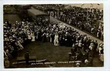 (Gp529-402) Real Photo of HORNSEA Sea Wall Opening, Stanley Wilson 1907 Used VG+