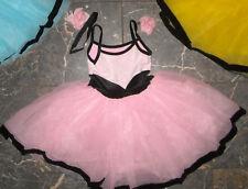 NWT Black Velvet Trim White Lace Organdy Tutu Ballet choker rose included ch/Ad